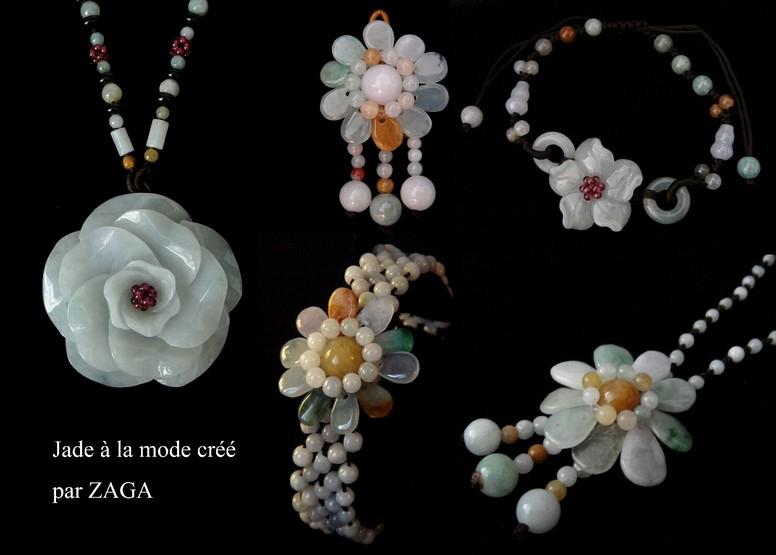 personnalisé beaucoup de styles chaussures exclusives Bijoux en Jade & Perles de culture ZAGA